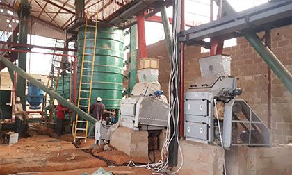 60 Tons/Day Palm Kernel Oil Pressing Line in Ghana