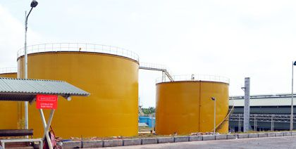 bulk oil storage equipment for palm oil production mill