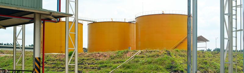 bulk palm oil storage tank