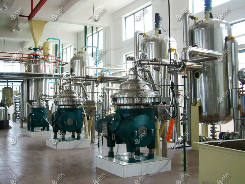 continuous palm kernel oil refinery plant