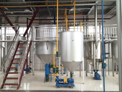 continuous palm kernel oil chemical refining line