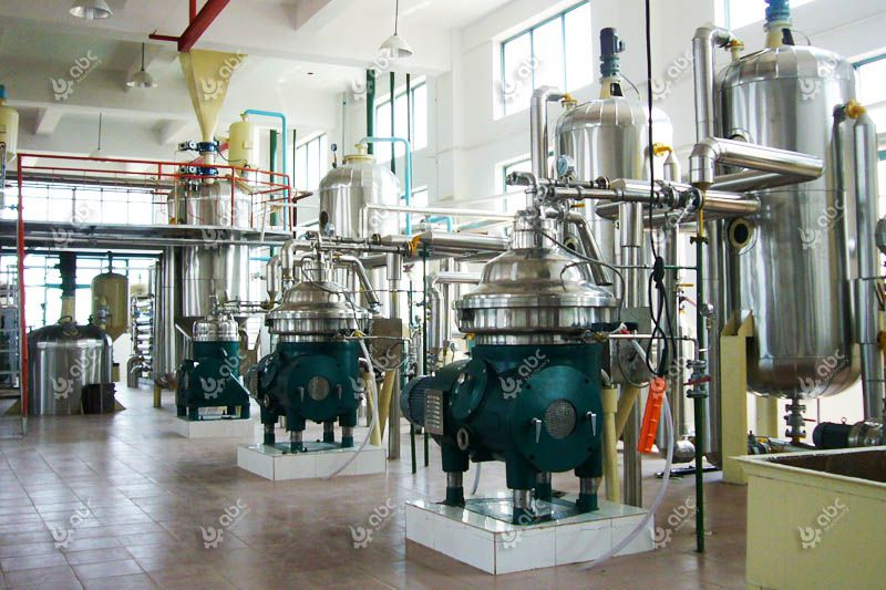 automatic continous palm oil refinery plant