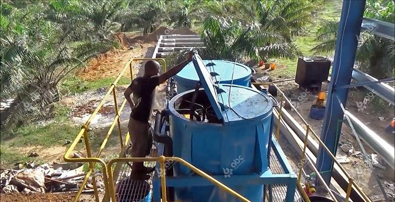 crude palm oil clarification tank