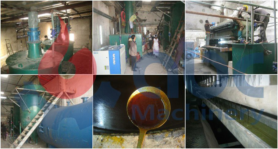 field photos of 10TPD palm oil fractionation plant