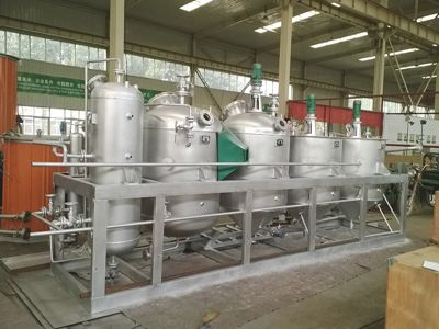 mini palm kernel oil refinery unit