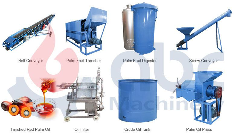palm fruit thresher for palm oil mill plant