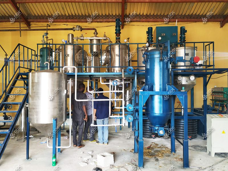 small palm kernel oil refinery plant
