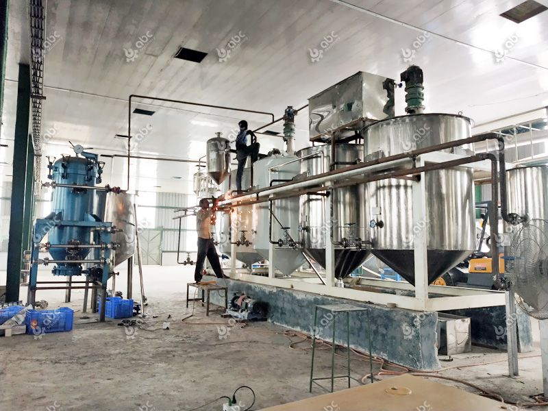 small palm kernel oil refinery plant installated in Nigeria