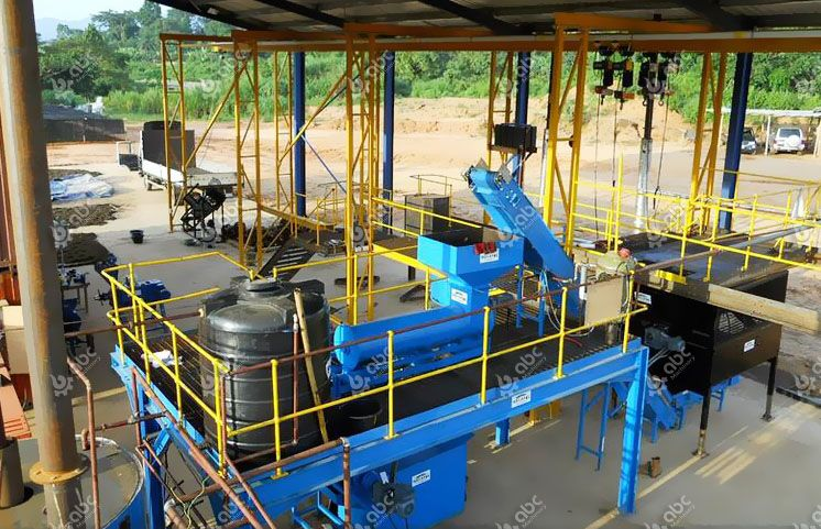 small palm oil milling line set up in Nigeria