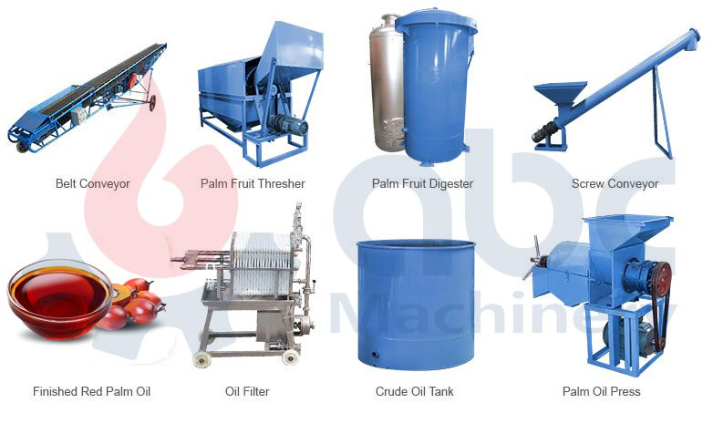 small palm oil processing mill machine for sales