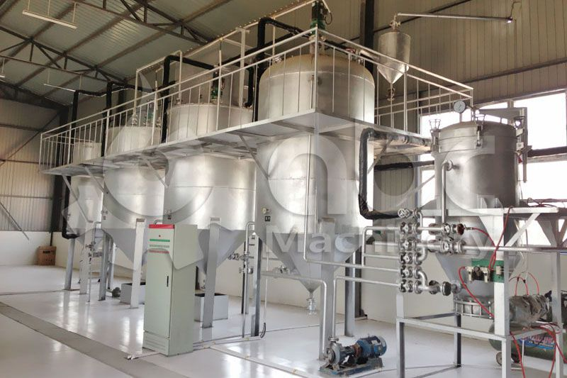 set up a mini or small palm oil refining line