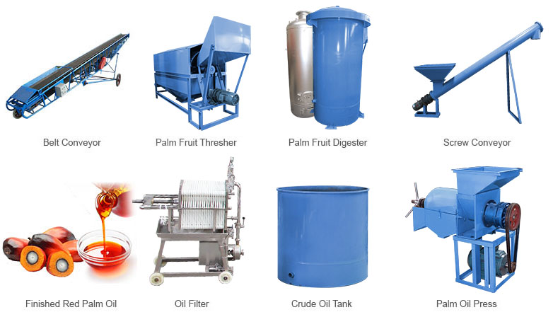 palm oil processing equipment for small scale palm oil mill plant