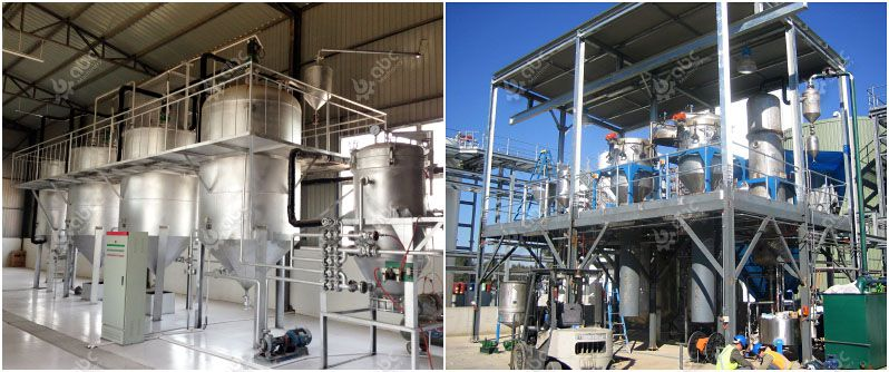 cheap small scale palm oil refining machine for sale