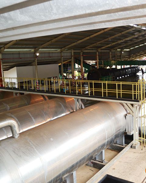 sterilization of palm oil processing