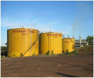 palm oil storage tank