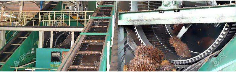 thresher drum palm oil mill